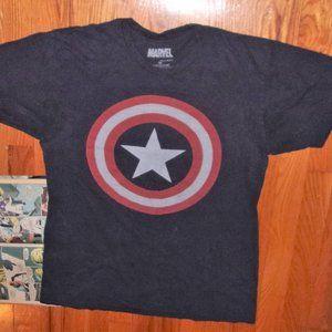 Marvel captain america mens medium tee shirt top